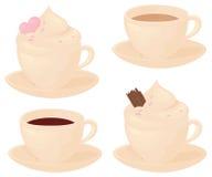 Choklad- och kaffeförälskelse royaltyfri illustrationer
