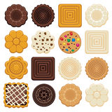 Choklad och ljusbruna chipkakor vektor illustrationer