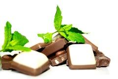 Choklad och mint Arkivfoto