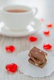 Choklad och tea Arkivbild