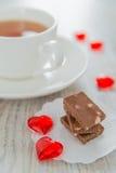 Choklad och tea Arkivbilder