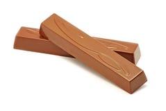 Choklad på vit Royaltyfri Fotografi