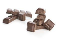 choklad pieces två Royaltyfria Foton