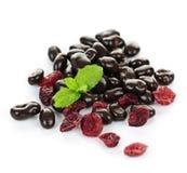 choklad räknade cranberries Arkivbild