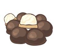 choklad räknade marshmallows vektor illustrationer