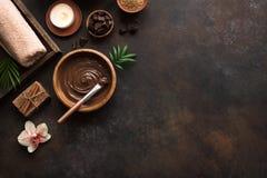 Choklad Spa royaltyfri fotografi