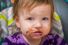 Choklad vänd mot blick Arkivfoto