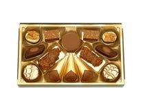 choklad vita isolerade pralines Royaltyfri Fotografi