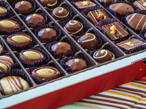 Chokladask Arkivbild