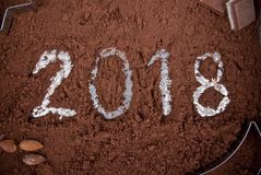 Chokladbegrepp 2018 Arkivbild