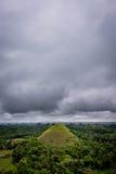 Chokladberg av den Bohol ön Royaltyfri Fotografi