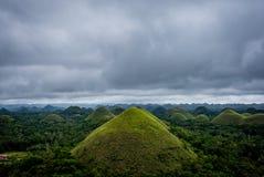 Chokladberg av den Bohol ön Fotografering för Bildbyråer