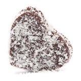 Chokladboll en forma de corazón Foto de archivo