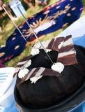 Chokladcake   Arkivbild