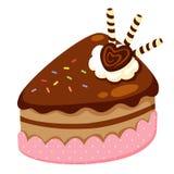 Chokladcake royaltyfri illustrationer