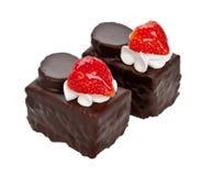 Chokladcakesna Arkivfoton