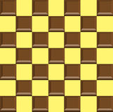Chokladchokladstycken i vacklad Arkivbilder
