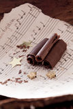 chokladchrismaskrullning Royaltyfria Foton