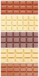 Chokladcollage Arkivfoton