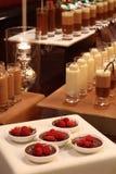 chokladdeltagare royaltyfri bild