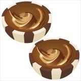 Chokladdragee Arkivbild