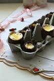 Chokladeaster ägg Fotografering för Bildbyråer