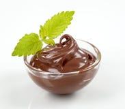 chokladefterrätt Arkivfoto