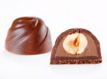 chokladefterrätt royaltyfri fotografi