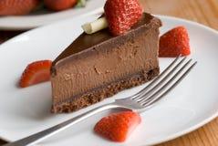 chokladefterrätt Arkivbild