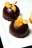 chokladefterrätt Royaltyfri Bild