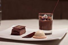 chokladefterrätt Fotografering för Bildbyråer