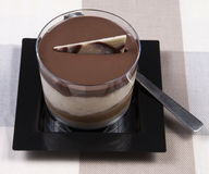 Chokladefterrätt Arkivfoton