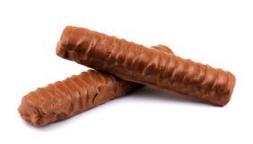 Chokladefterrätt som isoleras på vit bakgrund Royaltyfri Bild