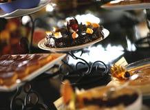 Chokladefterrättkaka Royaltyfri Fotografi