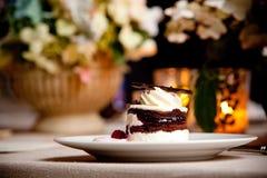 chokladefterrätt Royaltyfri Foto