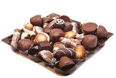 Choklader för ett sortiment Royaltyfri Fotografi