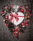 Choklader för valentin dag Royaltyfri Fotografi