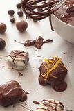 Choklader gjorde förberedelser Arkivfoton
