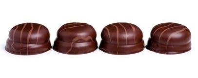 Choklader med souffle royaltyfria bilder
