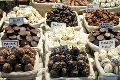 choklader shoppar sötsaker Royaltyfria Foton