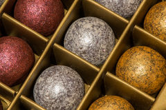 Chokladfärgbollar Arkivfoto