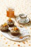 Chokladfinansiär Cakes Royaltyfria Foton