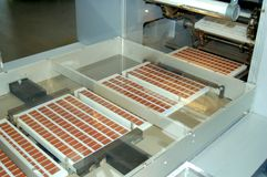 chokladframställning Arkivfoto
