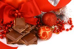 chokladgåvaxmas Royaltyfria Bilder