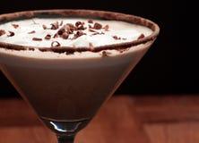 chokladgarnering martini Arkivfoto