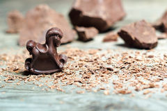 Chokladgodis i formen av hästen Arkivbild