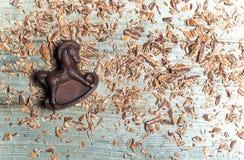 Chokladgodis i formen av hästen Royaltyfri Foto