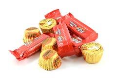 Chokladgodisar i omslag Royaltyfri Foto