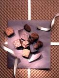 chokladgourmettryfflar Arkivfoton