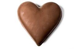 Chokladhärd som isoleras på vit bakgrund Royaltyfri Bild